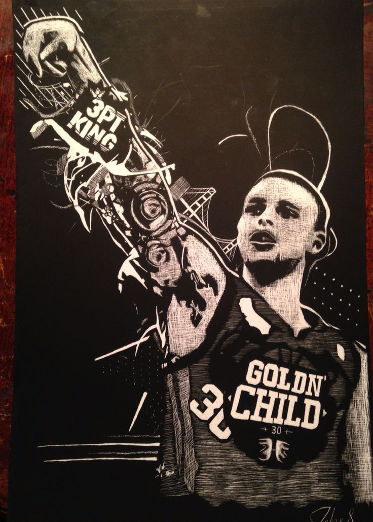 Stephen curry tattoo drawing