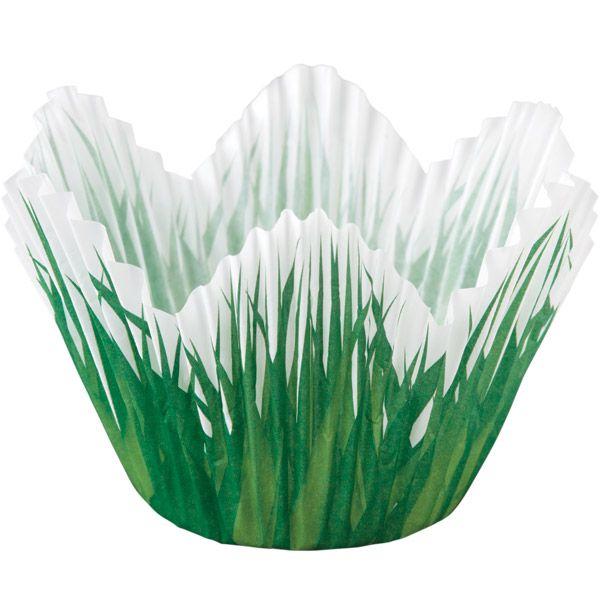 Wilton Shaped Grass Baking Cups