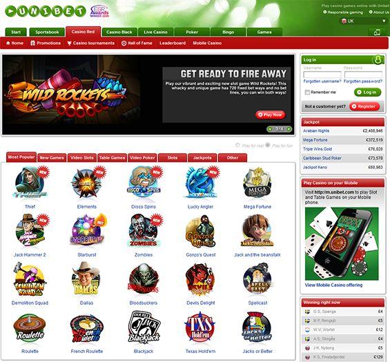 Mobile Casino Games -  UK Unibet UK - play online casino games and get £200 bonus!