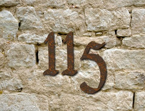 Set of 3 - Custom Rustic House Numbers / Numbers / Initials / Wall Hanging / Address - $25.50 on Etsy from RusticaOrnamentals