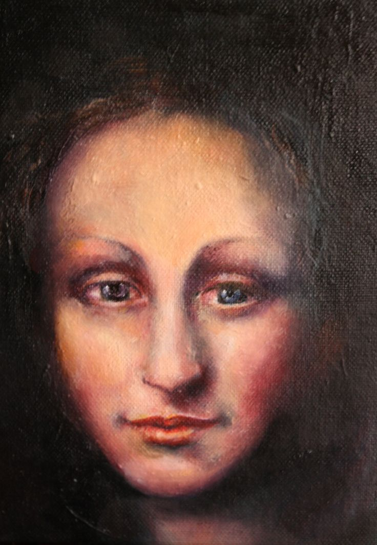 "after ""da Vinci'.oil on canvas.20/25cm"