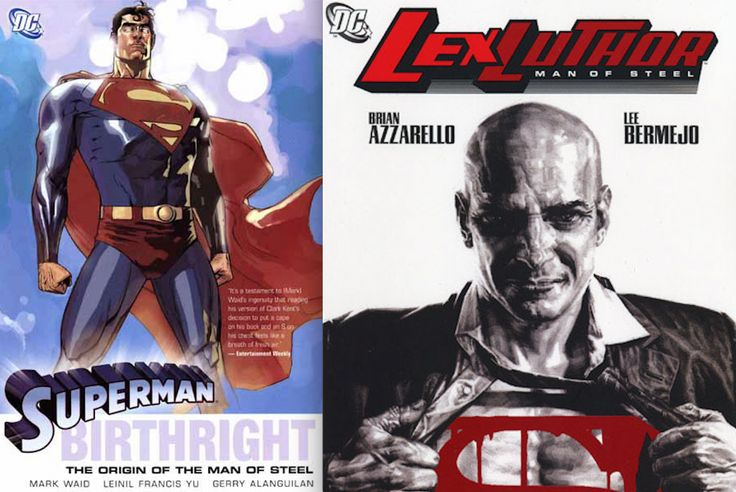 Superman Birthright and Lex Luthor Man of Steel