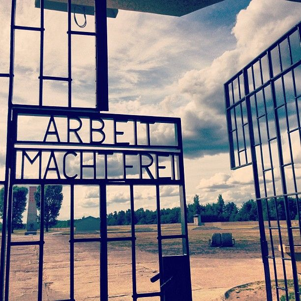 While in Berlin: Day trip to Sachenhausen Concentration Camp. Sobering. Work will make you free