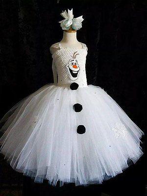 Olaf Snowman Inspired Tutu Dress
