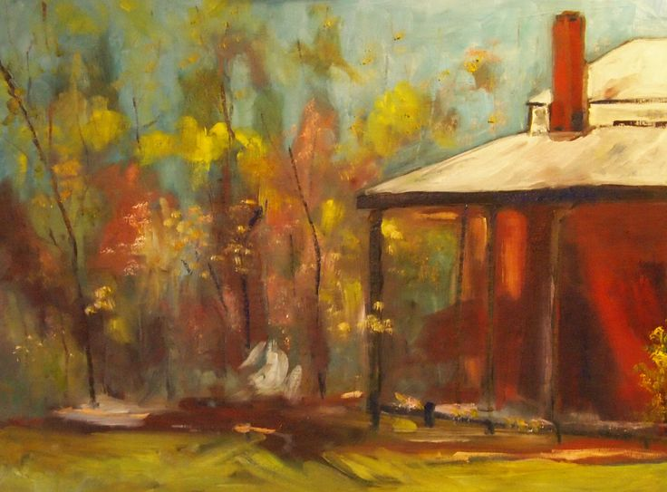 """""""Historic homestead at Armstead Estate Winery at Knowsley VIC  (framed"""" by Margaret Morgan (Watkins). Paintings for Sale. Bluethumb - Online Art Gallery"""