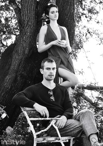 Shailene Woodley & Theo James Like You've Never Seen Them! - James in Ami Alexandre Mattiussi and Carven; Woodley in Donna Karan from #InStyle