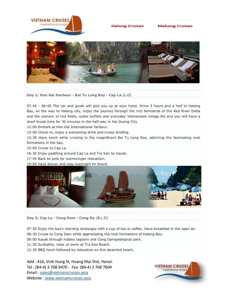 dragon-pearl-junk-03days by Vietnam Cruises via Slideshare