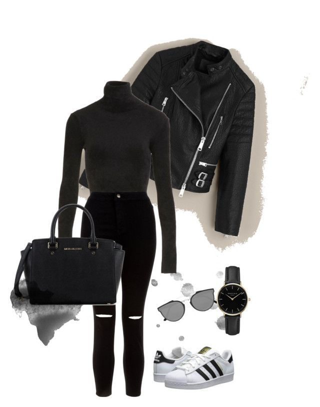 """""""Untitled #12"""" by maria-raniela on Polyvore featuring AllSaints, FAUSTO PUGLISI, New Look, adidas Originals, Michael Kors, RetroSuperFuture and ROSEFIELD"""