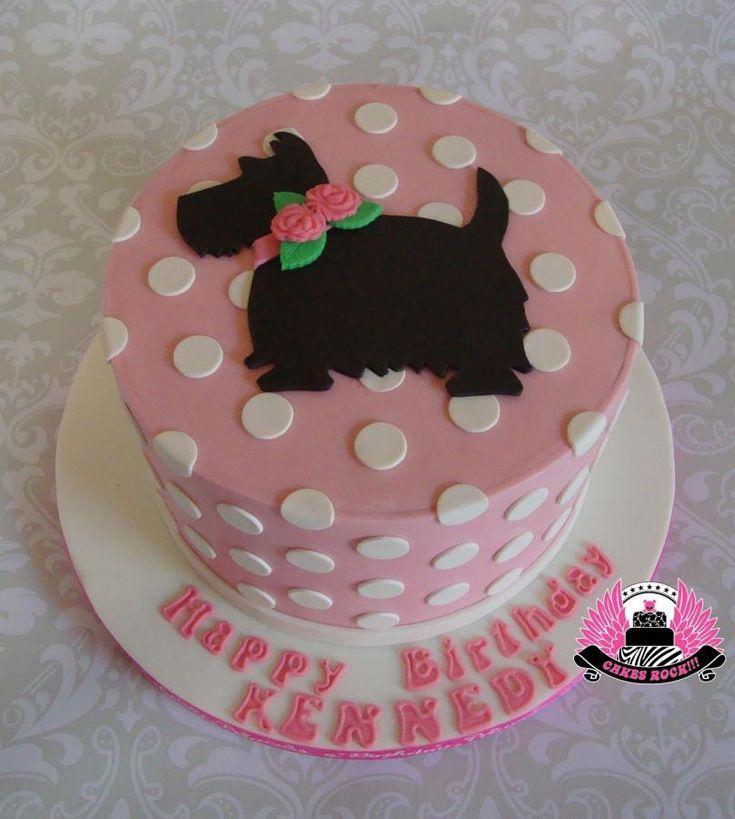 Puppy Love Gluten Free First Birthday Cake With Scottie