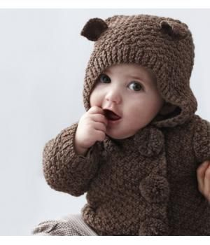 Handmade knitted baby cardigan