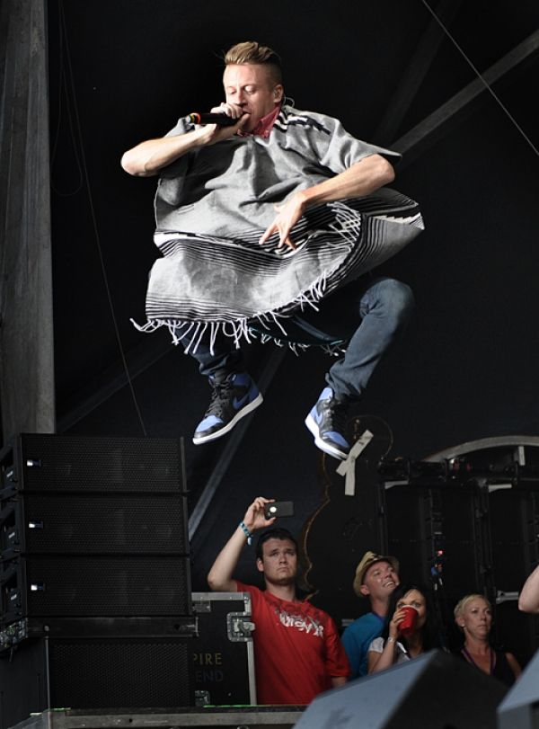 Macklemore takes flight at the Squamish Valley Music Festival.