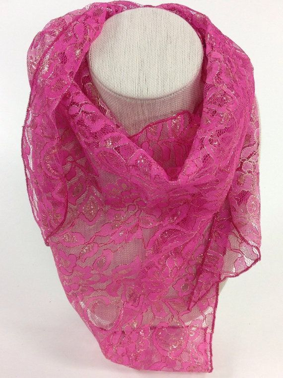 Check out Pink lace Scarf, Gift for Cancer patient, Holiday Gift, Reversible head scarf, Gift for girl Mom Gift for Nurse Hip scarf for teenager on blingscarves