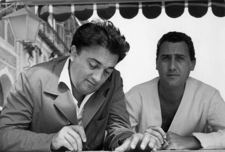 Federico Fellini and Alberto Sordi