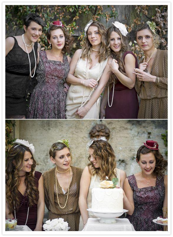Vintage Wedding Dresses Bath : Hats tea party bridal shower themed showers vintage
