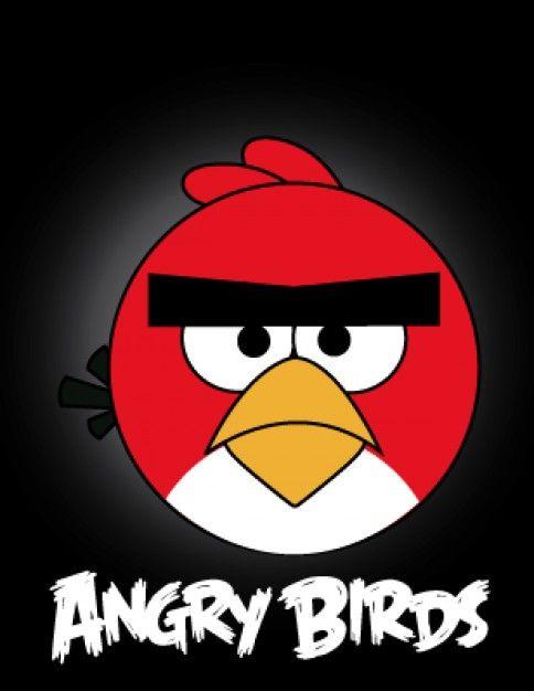 Vecteur de personnage de jeu vidéo Angry Birds