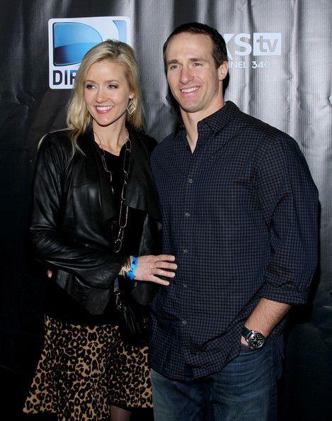 Drew  and Brittany Brees - DirecTV Super Saturday Night - Arrivals  www.SaintsNews.net - #Saints - www.twitter.com/saintsnews