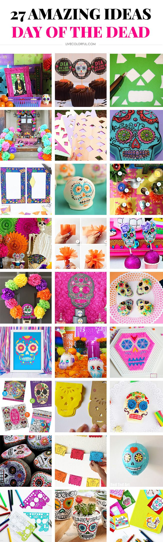 Check out these 27 Amazing Day of the Dead (Dia de Muertos) ideas! | Live Colorful