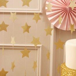 Sparkling gouden sterren slinger Perfect Love