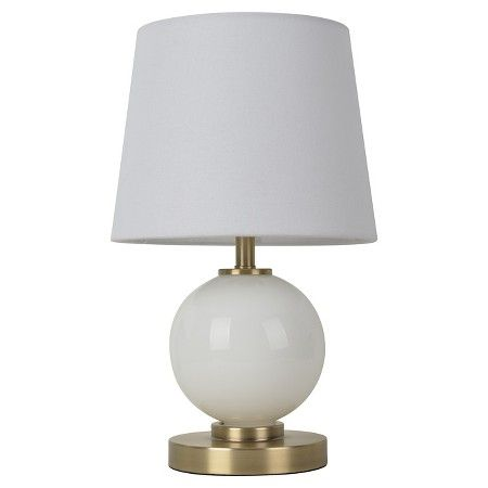 Glass Ball Table Lamp with Touch On/Off White (Includes CFL bulb) - Pillowfort™ : Target
