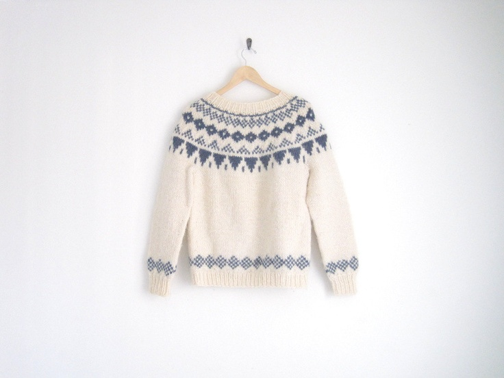 vintage nordic knitted sweater