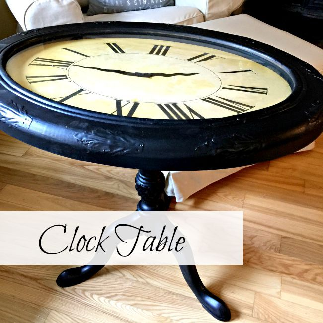 Elegant Repurposed Clock Table (maybe With A Lamp Base)