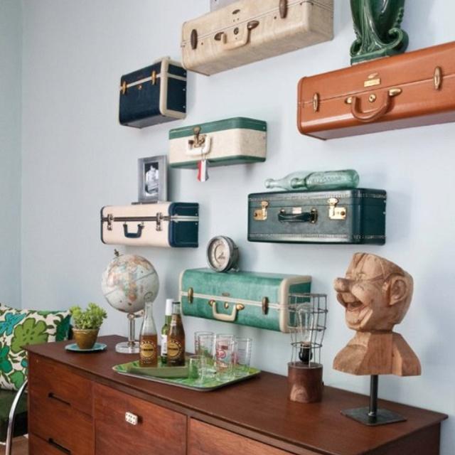 Ideas para decorar con maletas antiguas - Muebles y decoración - Compras - Página 2 - Charhadas.com