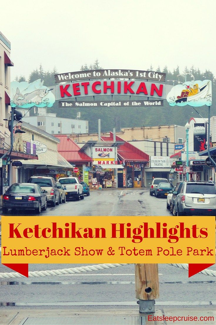 Ketchikan Highlights and Totem Pole Park Excursion Review. Enjoy a fun-filled day in Ketchikan, Alaska with a stop at the Great Alaskan Lumberjack Show and a visit to Potlach Totem Park.
