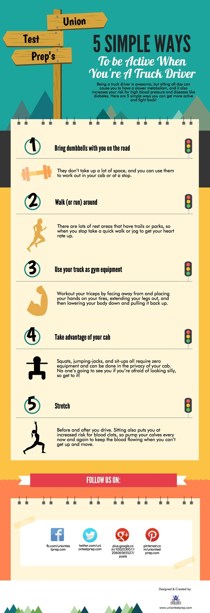 Exercise tips for truck drivers