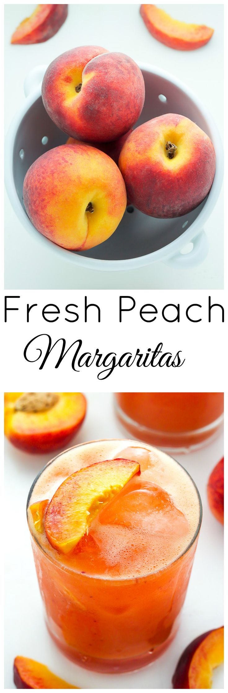 Fresh Peach Margaritas - these super refreshing cocktails can be ready in 10 minutes! Treat yourself to a batch asap.
