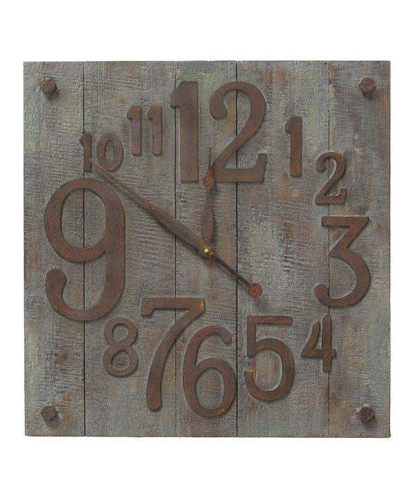 Love this Bucolic Wall Clock by The Import Collection on #zulily! #zulilyfinds