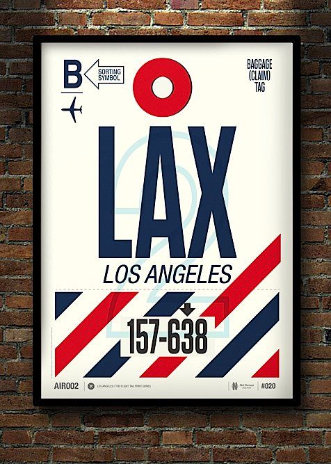 If these Modern Flight Tag Prints don't make you want to travel just to collect all of them, well at least they're better than what airlines use now. Designs by @Fabio Sasso