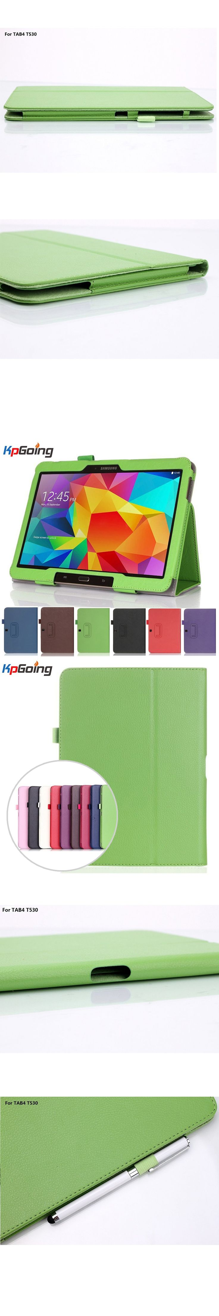 Flip Case for Samsung Galaxy Tab 4 10.1 T530/T531/T535,Folio PU Leather Tablet Stand PC Case Cover for Samsung Galaxy Tab 4 10.1