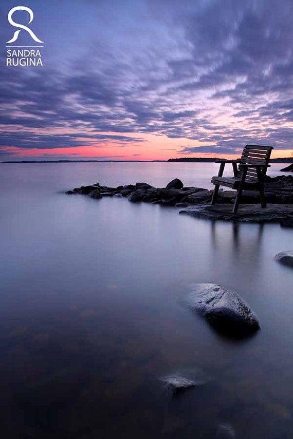 Photo print of a beautiful sunset near a lake by behindmyblueeyes, $25.00