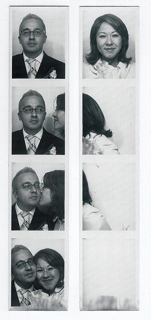 Couple photo idea: Use photo booth strips to tell a story #PANDORAloves #romance #love