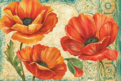 RB6235PG <br> Poppy Tapestry Landscape <br> 24x36