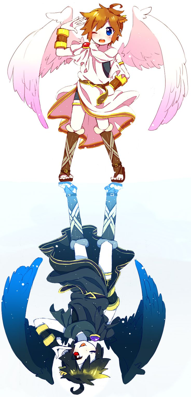 Kid Icarus Uprising Pit and Dark Pit