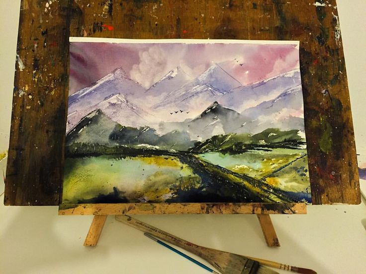 Winter mountains #landscape #instaartist #waterblog #artdiscover #sunset #arts_help #mountain #winter #dramatic #abstract #watercolor #painting #art #artwork #instagood #artist #watercolorart #watercolourart #style #artoftheday #inspiring_watercolors #pretty #dream #cloudy #inspiration #view #scene #watercolour #inspired