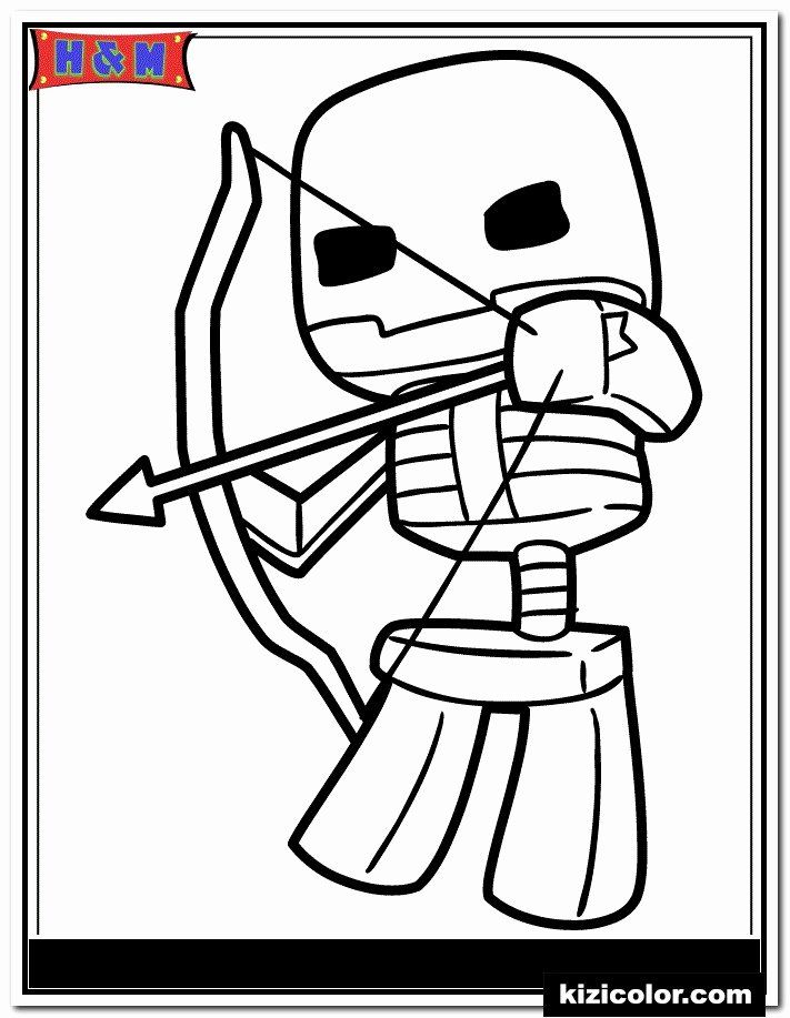 Minecraft Skeleton Coloring Page Beautiful Dÿz Minecraft Skeleton Shooting Bow And Arrow Kizi Free Minecraft Coloring Pages Bee Coloring Pages Coloring Pages