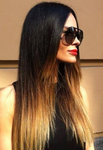 black to blonde ombre straight hair appearances