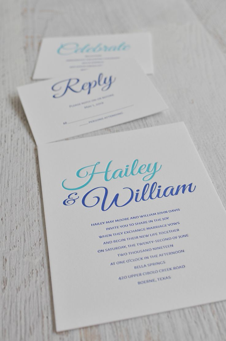 second wedding invitations wording%0A Modern Charm  Letterpress Invitation