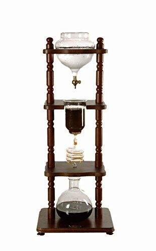 Special Offers - Yama Glass 6-8 Cup Cold Drip Maker Curved Brown Wood Frame - In stock & Free Shipping. You can save more money! Check It (June 10 2016 at 10:17AM) >> http://coffeemachineusa.net/yama-glass-6-8-cup-cold-drip-maker-curved-brown-wood-frame/