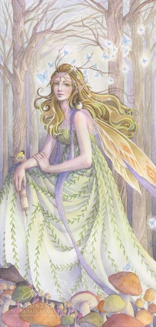 Fairy Art Print Woodland Fairy Irish Celtic Princess by Sara Burrier on Etsy