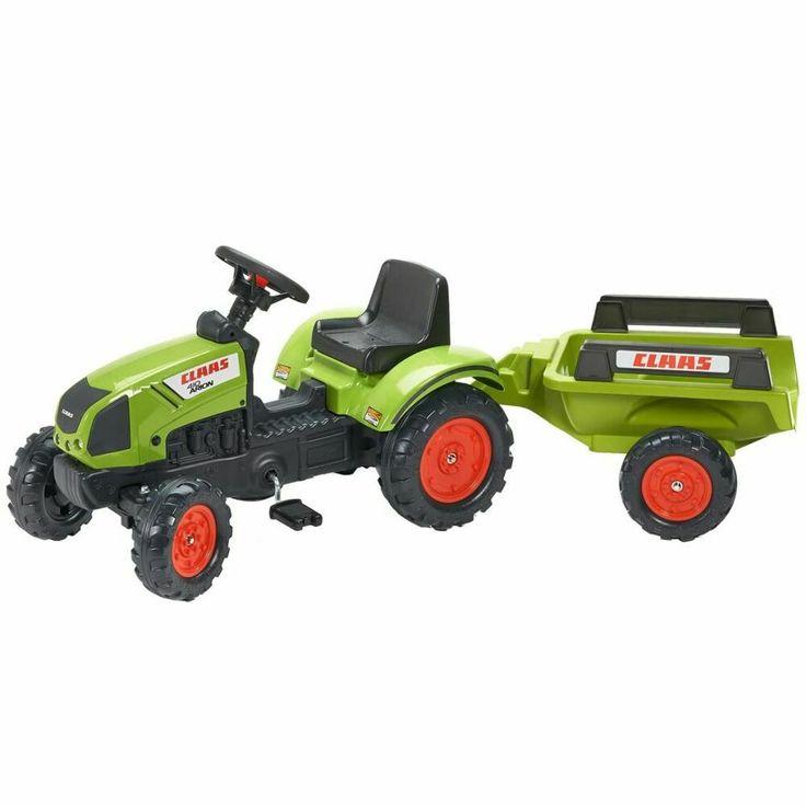 falk tracteur avec remorque vert pour enfants de 2 5 ans. Black Bedroom Furniture Sets. Home Design Ideas