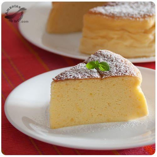 """El cheesecake japonés o como se le llama en Japón, """"soufflé japones"""" o """"soufflé del Japón"""" (sufure chīzu kēki) tiene una consistencia espectacular."""