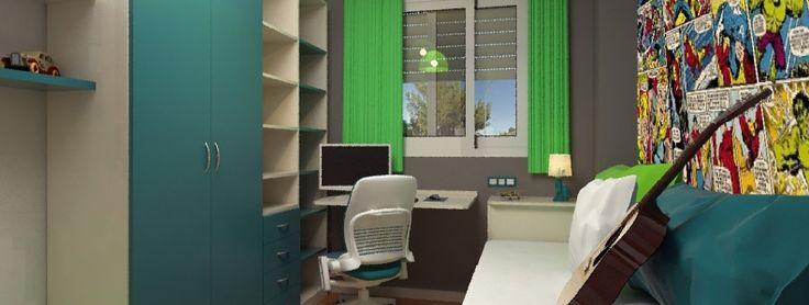 Si estás buscando ideas para decorar dormitorios juveniles, éste es el enlace que debes seguir. Juega con colores llamativos y combínalos con papel pintado. http://www.elsofacama.com/dormitorios-juveniles/