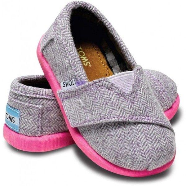 Tiny TOMS Pink Pop Herringbone Classic Toddlers