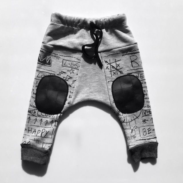 Keep your infant warm in these sweat pants, covered in darling doodles and sketches, 3M-24M | WyattLily.com
