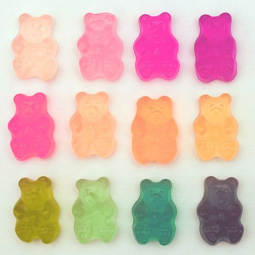 Gummie Color-- my daughter Anna Clotilde and I love gummy bears. These