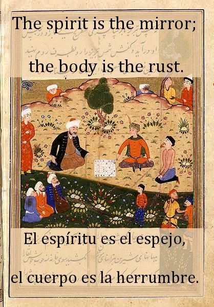 The spirit is the mirror; the body is the rust. (Divan-i-Shamsi Tabriz) The Dermis Probe Read the book, for free, here: http://idriesshahfoundation.org/books/the-dermis-probe/