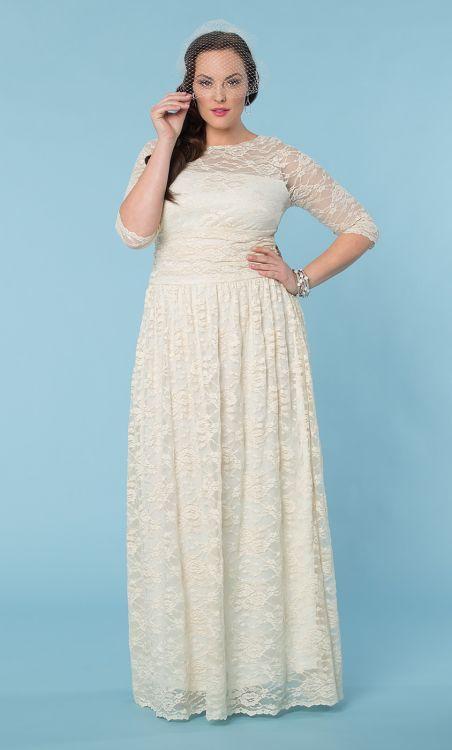 Wedding Dresses for Curvy Brides from Kiyonna.com | The Budget Savvy Bride